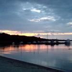 Schweriner See - Sonnenuntergang am Strand von Zippendorf