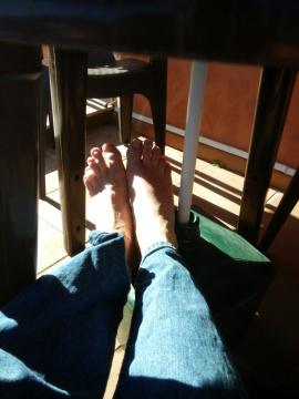 Ankommen in der Pilgerherberge und endlich die Füße hochlegen